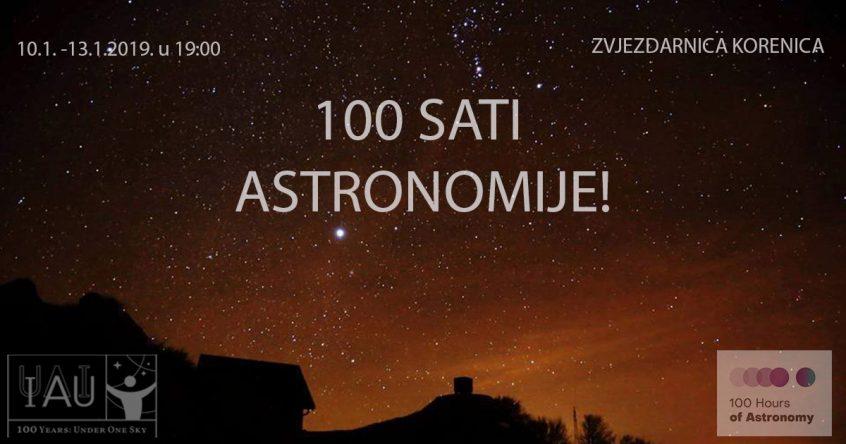 100 sati astronomije Zvjezdarnica Korenica