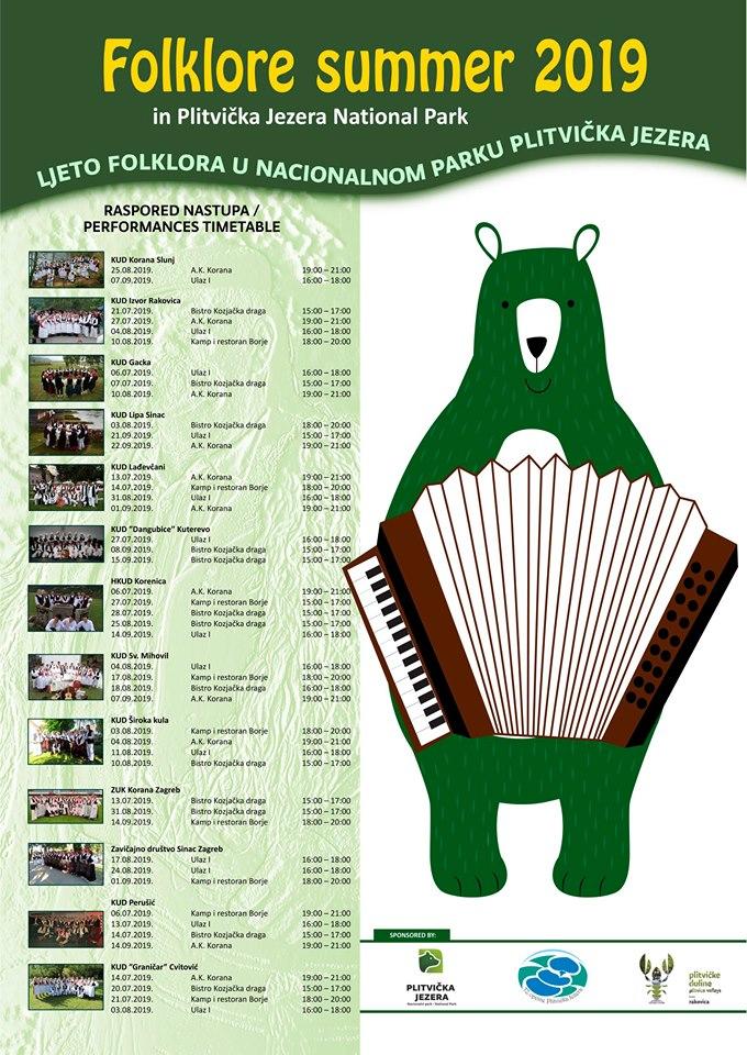Folklorno ljeto u NP Plitvička jezera