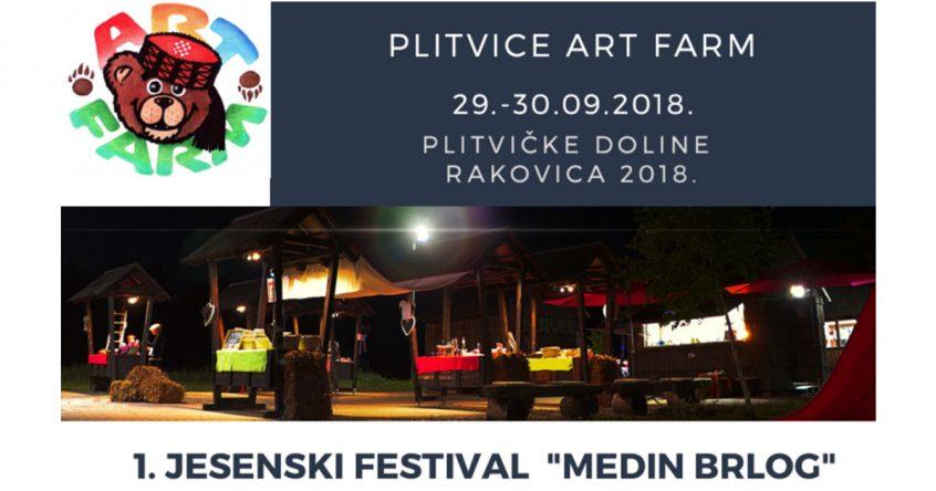 """1. Jesenski festival """"Medin brlog"""" 29. i 30. rujna na Plitvice ART FARM"""
