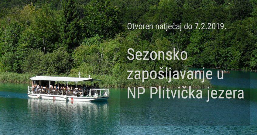 Natječajradna mjesta - NP Plitvička jezera sezona 2019