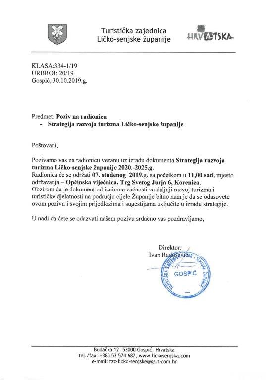Strategija razvoja turizma Ličko-senjske županije