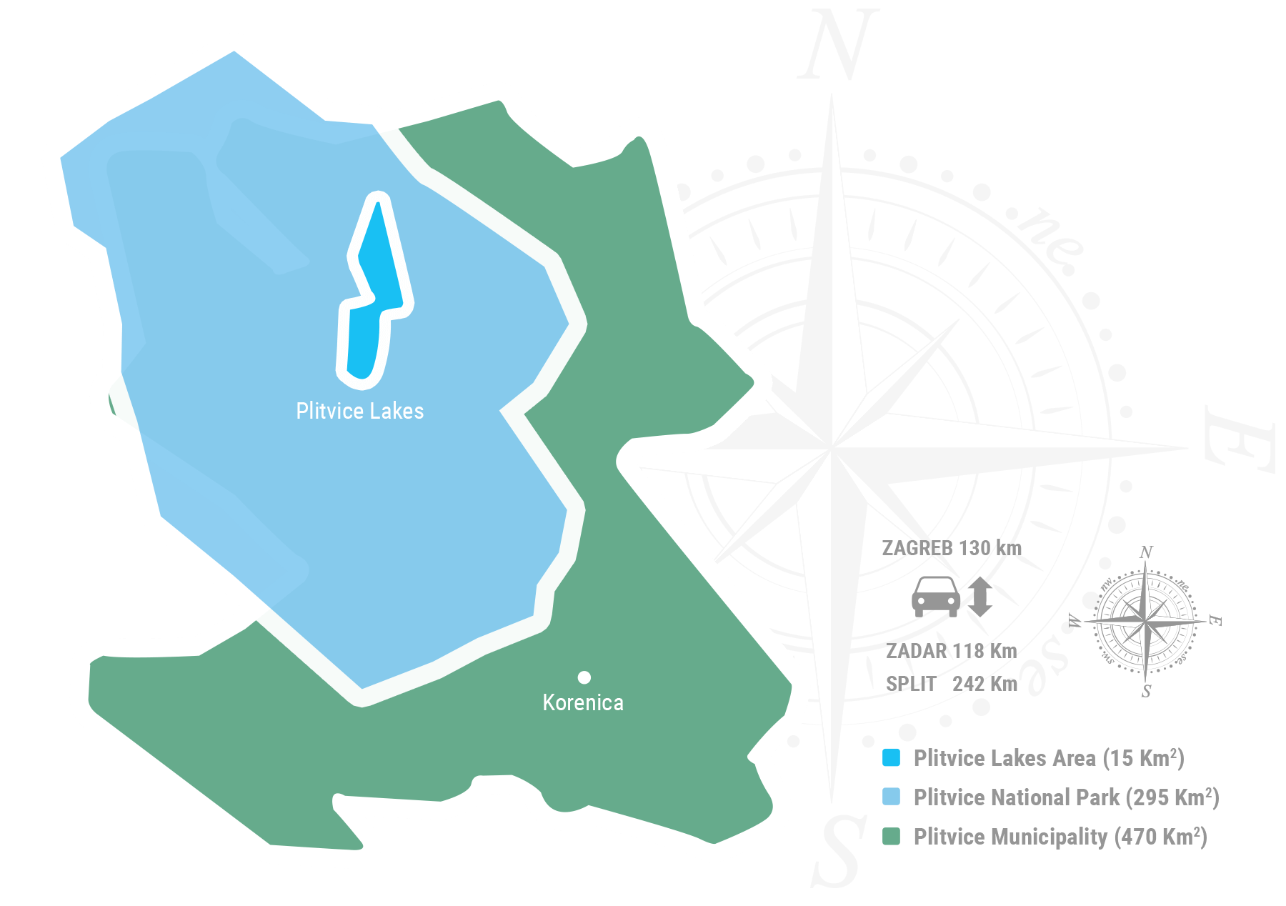 Plitvice County Map