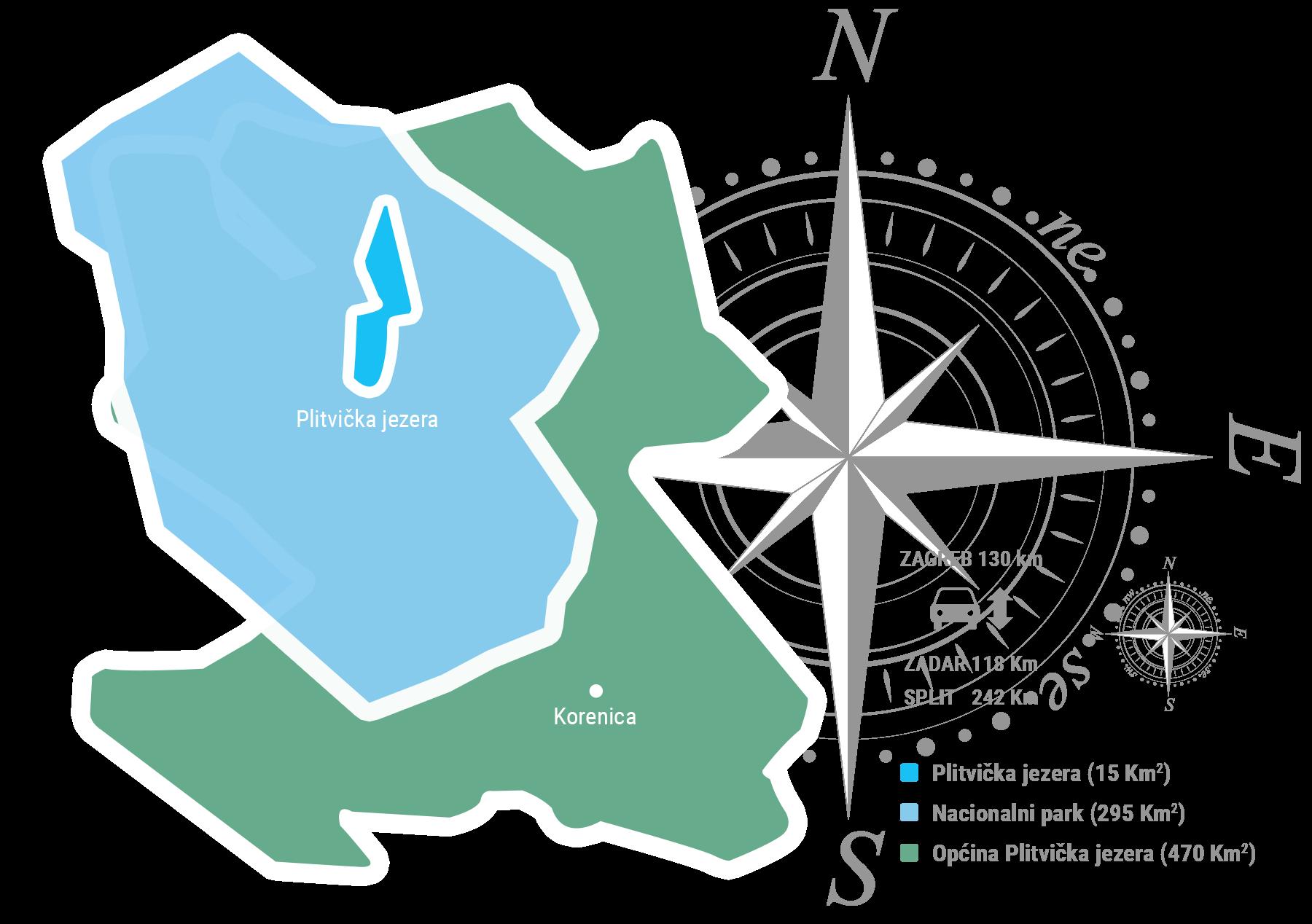 Površina Plitvičkih jezera