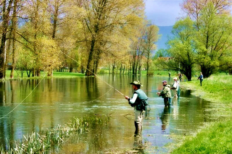 Angling on the Gacka river