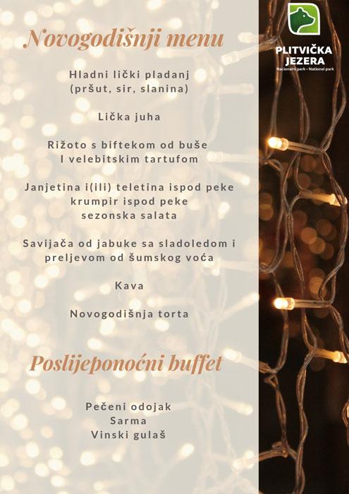 Doček Nove godine u restoranu Lička kuća