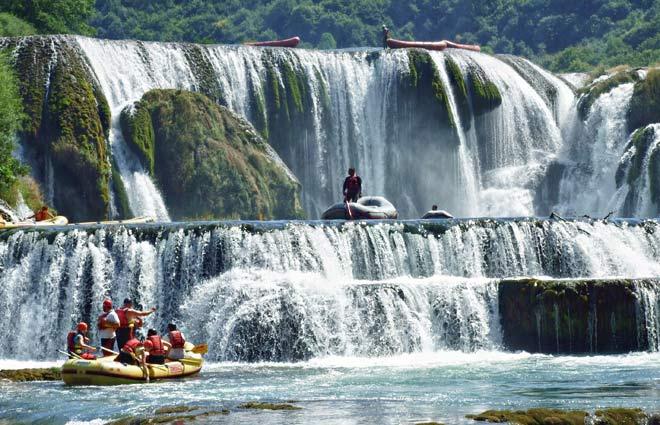 Rafting na rijeci Uni