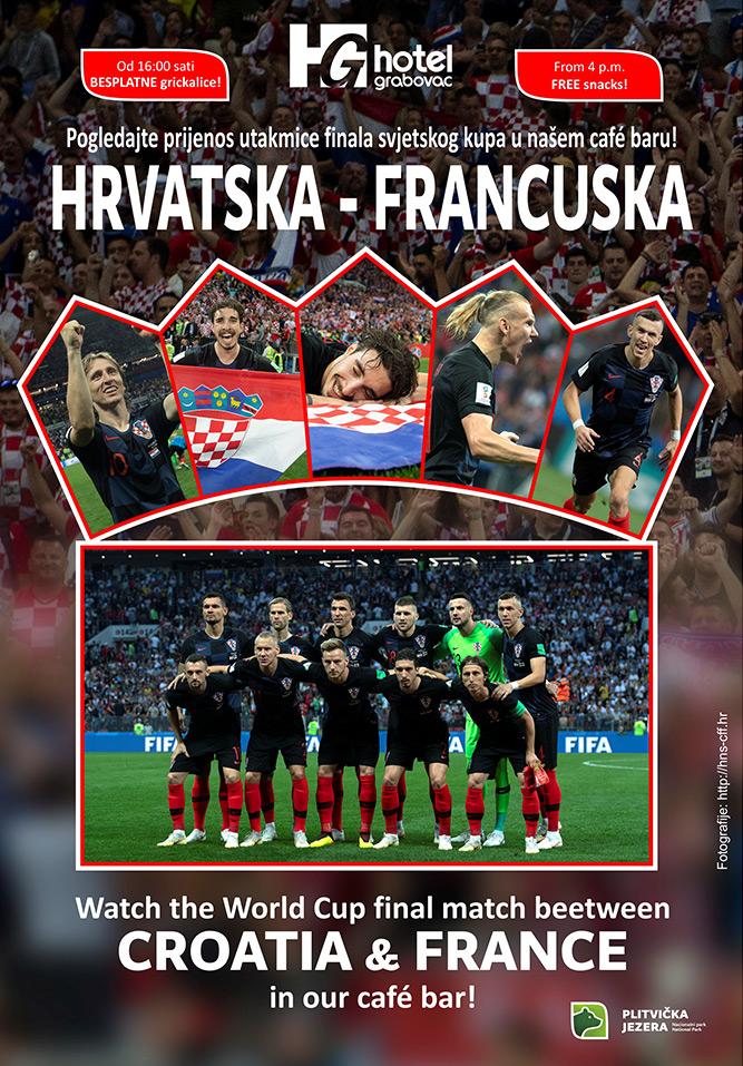 Utakmica Hrvatska Francuska hotel Grabovac